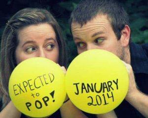 Oznanitev nosečnosti - baloni